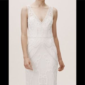 BHLDN Sorrento  dress beautiful size 0 ivory color
